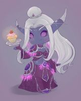 Nightborne mage chibi by ipheli
