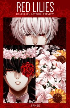 RED LILIES Artbook Preview by jiphee