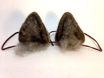 Needle Felt Gray Wolf Ears by RRedolfi