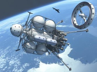 Another Outing For My Von Braun Moonship by Paul-Lloyd