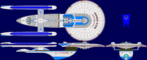 USS Excelsior Multi-View by captshade