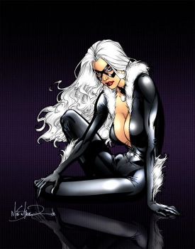 Colored: Black Cat by AFD-Colors