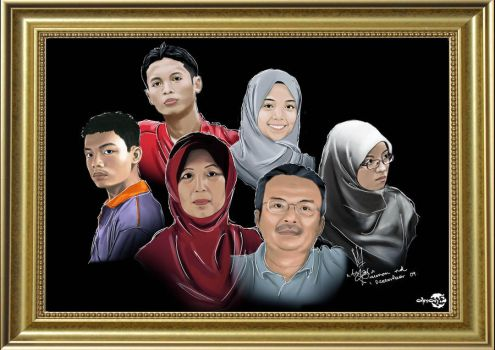 Family Digital Painting by AimanMD