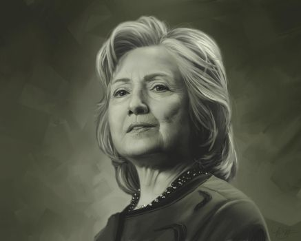 Hillary Clinton Portrait by timothysmithdesign