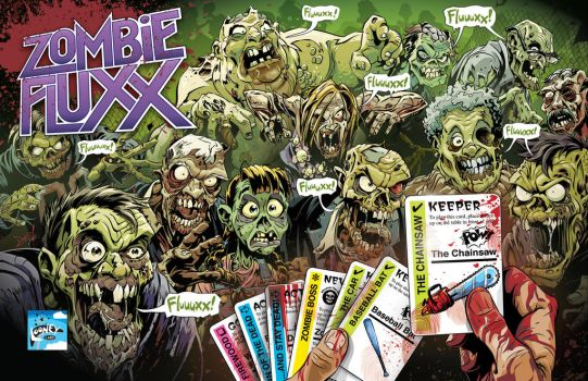 Zombie Fluxx 2-Page Ad by abnormalbrain