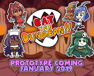 Eat the Dungeon!! Prototype Date Announcement by Bewildered-Angel