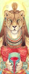 Placation - Sekhmet by Goldenwolf