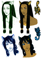 New characters 1 by DarkBullet777