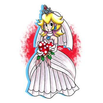 World Of (New) Nintendo (3DS XL) _fanart__wedding_peach_by_dnpinotti123-dbe1l8q