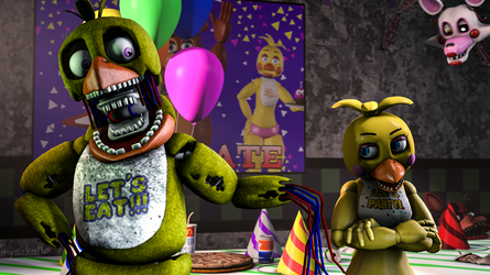 We are basically the same! - Withered Chica (SFM) by myszka11o