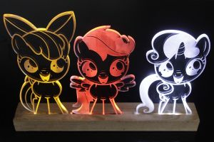 Cutie Mark Crusaders Acrylic LED Picture by steeph-k