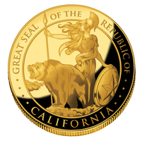 California Gold Coin Design by SouthParkTaoist