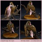 Commission : Wedgetail Eagle Cake Topper by emilySculpts