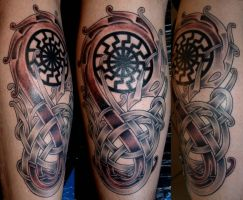viking art sunweel by DarkSunTattoo