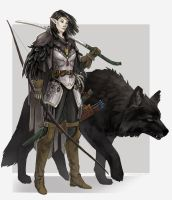 Nathrae and Lueros by Angevere