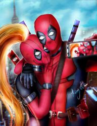 Deadpool couple by KioryAlion