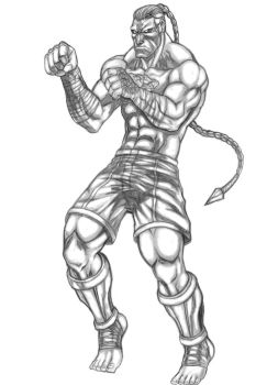 Lan-Po Xuang (Warriors of Chaos) Line Art by SoulStryder210