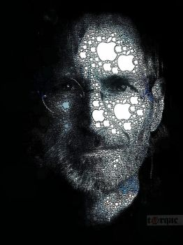 The Steve Jobs Apple Portrait by torqueabhi