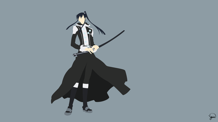 Yuu Kanda (D.Gray-man) Minimalist Wallpaper by greenmapple17