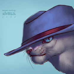 Cat in Hat by Lutri