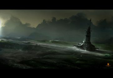 20150725 2 Submarine by psdeluxe