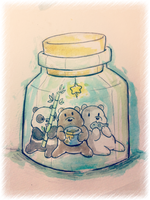 IT'S BEARABLE TO STAY IN A JAR EATING by Stick2mate