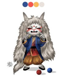 Wolfie- character design by sat-s