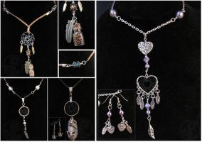 Four Dream Catcher Necklaces by SaQe