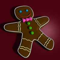 Gingerbread Man 3d model by xmas-kitty