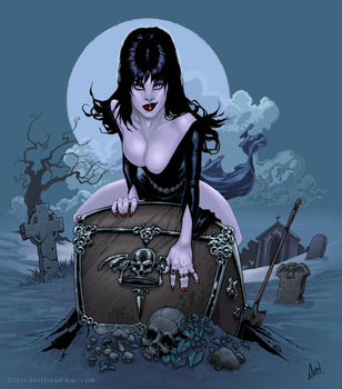 Elvira's Giftbox by artzilla