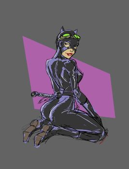 Superfast Catwoman sketch by SuikTwoPointOh
