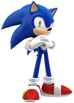 Angry Sonic Pose by JaysonJean