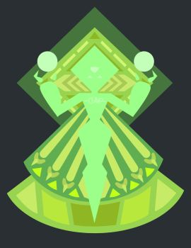 Peridot Diamond Mural by Bappy135
