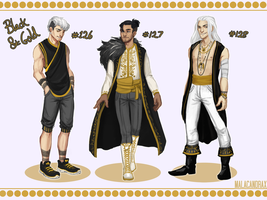 Adopts #126-128 Black and Gold [AUCTION- CLOSED] by Malacandrax