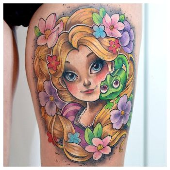 Rapunzel tattoo by cam-miyu