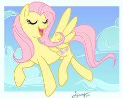 Fluttershy for Xofox by saucycustoms