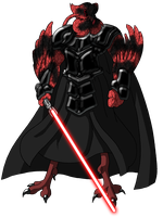 dark mutant fancy space pigeon of the sith by unoservix