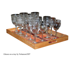 Glasses on a Tray by Nolamom3507