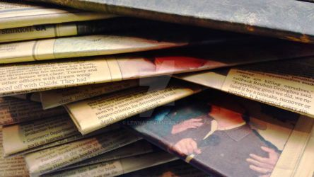 Stack of Old Newspapers 3 by Lewna