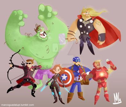 Avengers Age of Ultron Assemble by Coram85