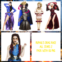 RuPaul's Drag Race All Stars Pack PNG by maarcopngs