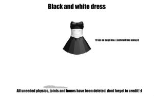 [MMD] Black and white dress download by Vocaloid98