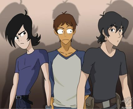 Lance, Lance, and Keith by AliAvian