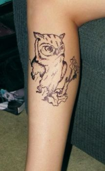Owl Tattoo by Through-Your-Eyes