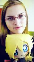Me and my Cloud Plushie by ladylucienne
