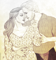 Delylah and Cullen [Art-trade] by hellenys