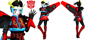 [MMD] Windblade Gijinka (Transformers) by DrStinger