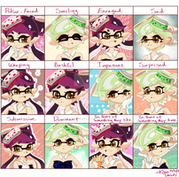 Squid Sisters expression meme by kiraradaisuki
