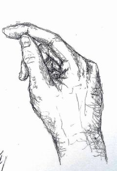 drawing by left hand by SwarzezTier