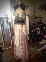 Fantasy of the Dream East witch Sakizo Cosplay WIP by cliodnafae27